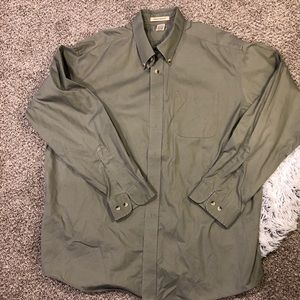 LL bean Mens Sz XL-reg green Wrinkle Resistant